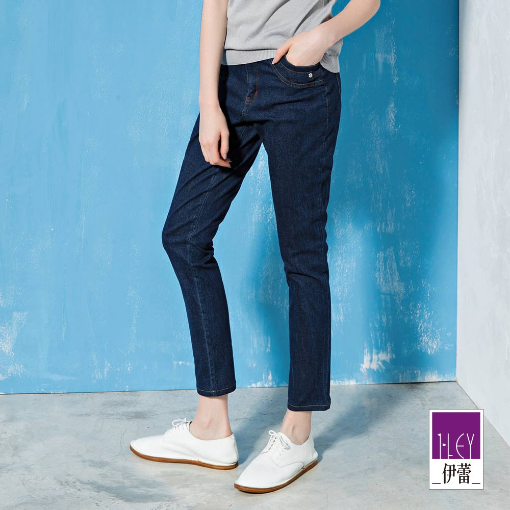 ILEY伊蕾 沁涼面料緊身-5kg提臀牛仔褲(藍)