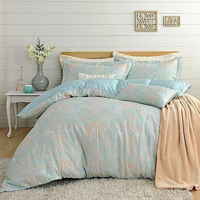 鴻宇 300織天絲-波美尼亞 雙人五件式兩用被床罩組