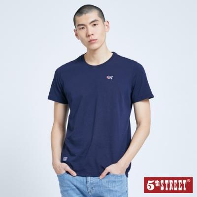5th STREET 經典LOGO繡花 短袖T恤-男-丈青