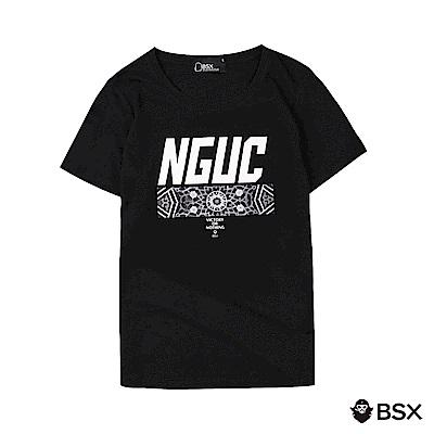 BSX 男裝VON印花短袖T恤-12 黑色