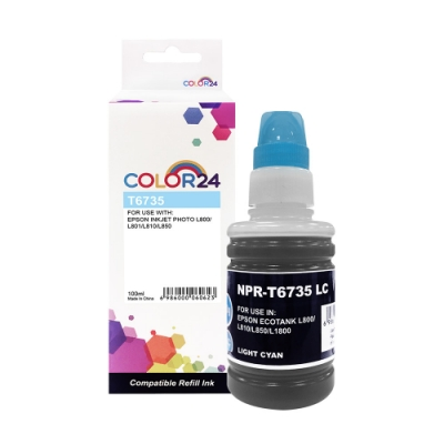Color24 for Epson T673500/100ml 淡藍色相容連供墨水