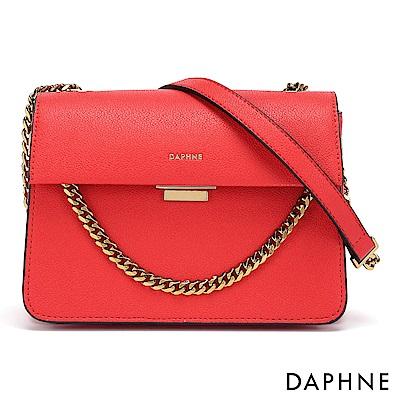 達芙妮DAPHNE-性感鍊帶簡約晚宴小方包-紅色