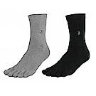 雪夫 CHAFER 竹炭銀絹氣墊織法除臭健康男性五趾襪-6雙