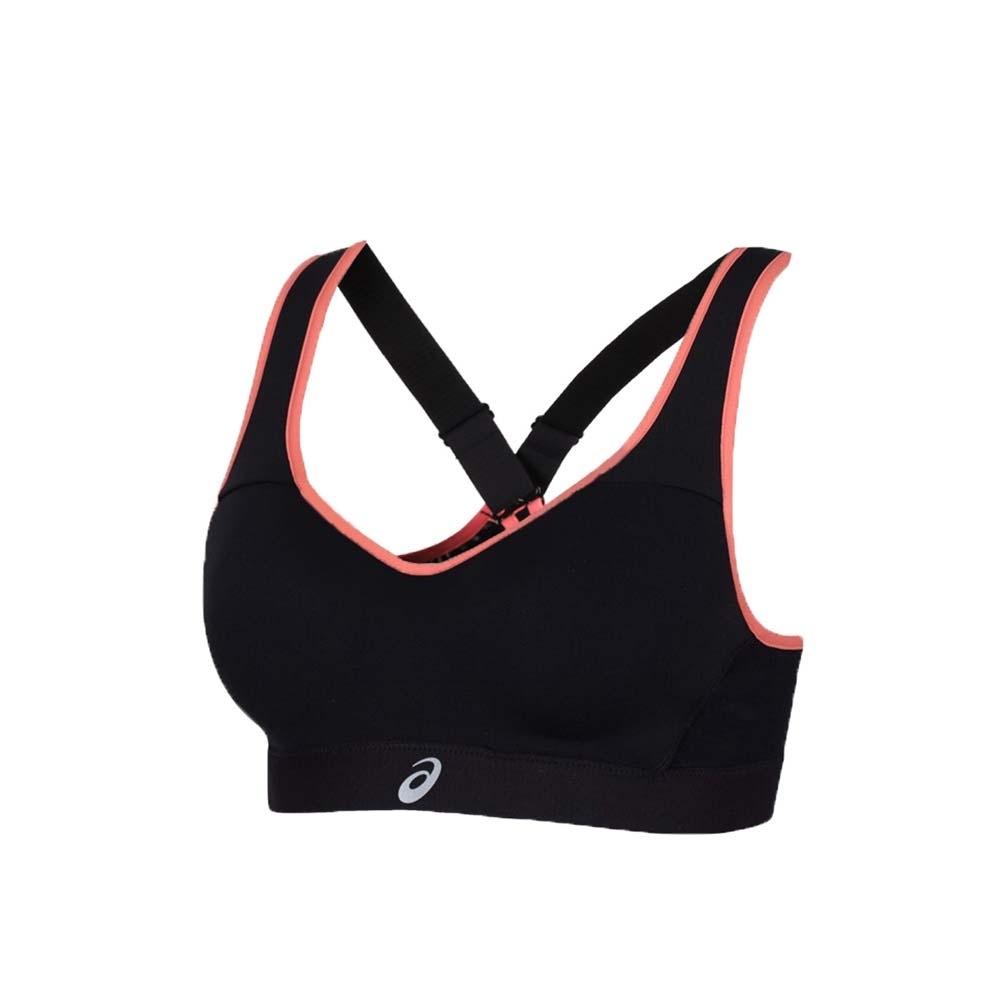 ASICS 女高強度支撐運動內衣-運動背心 韻律 有氧 瑜珈 亞瑟士 黑莓紅銀