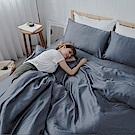 BUHO 100%TENCEL純天絲單人床包+雙人舖棉兩用被床包組(觀心清朗)