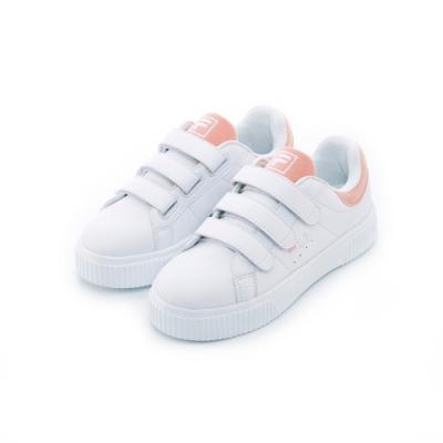 FILA 女性潮流復古鞋-白/粉 5-C601T-500