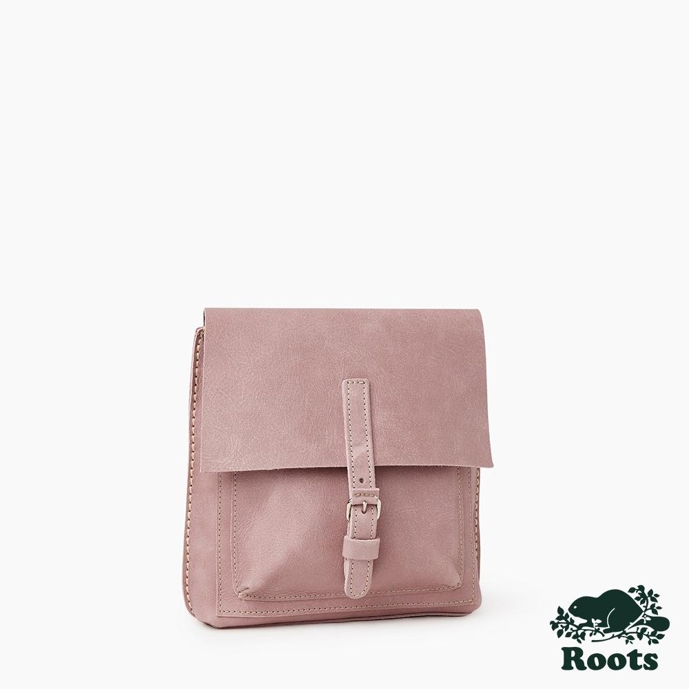 Roots三用迷你皮革後背包-粉色