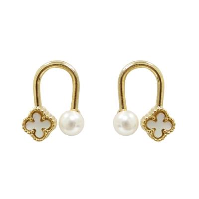Prisme 美國時尚飾品 幸運之星 金色耳環