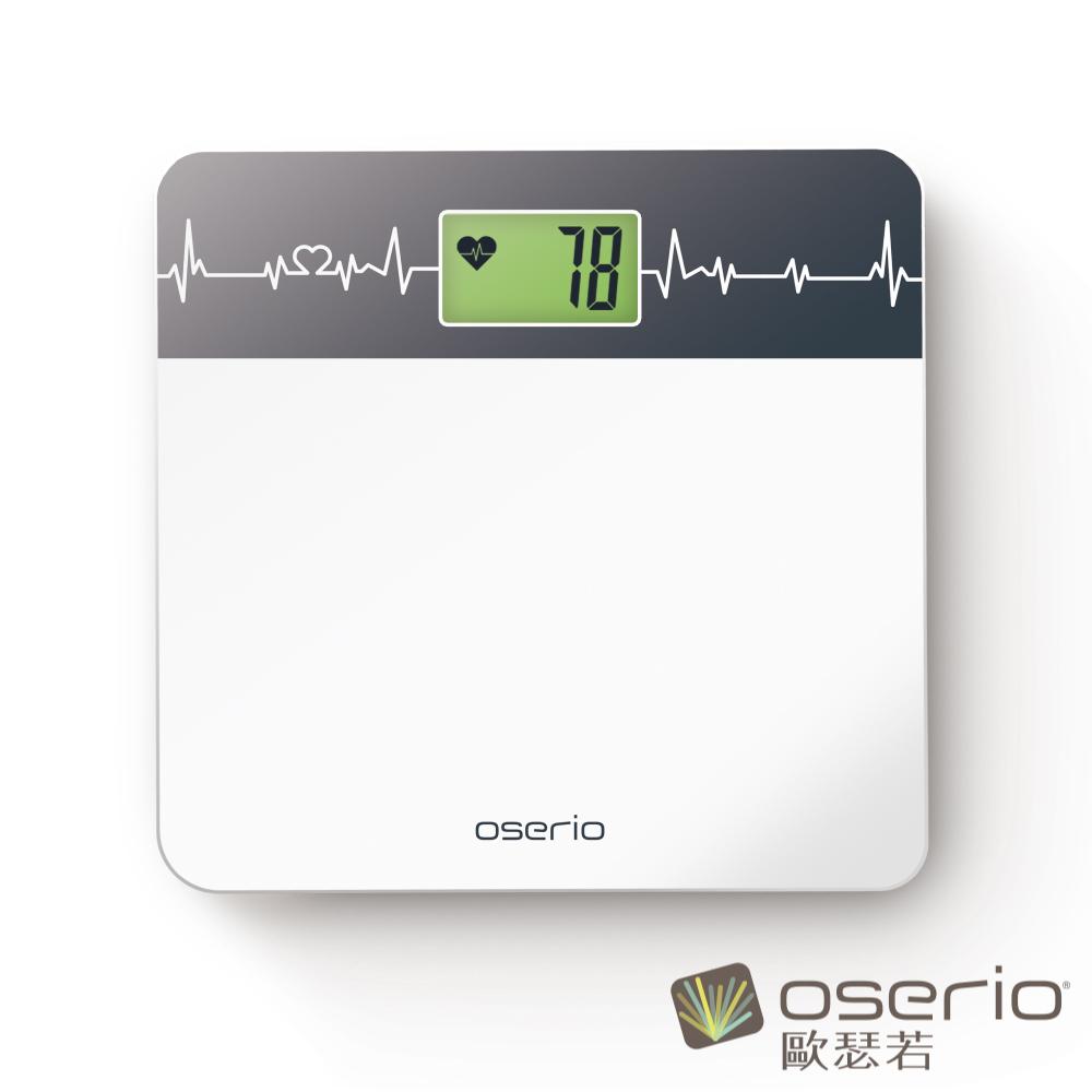 [時時樂限定]oserio歐瑟若 心率體重計 (BHG-208白)