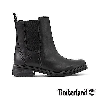 Timberland女款黑色皮革Mont Chevalier休閒鞋|A1SB9