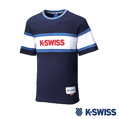 K-SWISS Ace Graphic Tee印花短袖T恤-男-藍