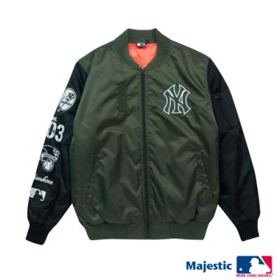 MLB-紐約洋基隊街頭MA-1飛行外套-深綠 (男)