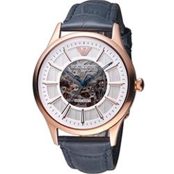EMPORIO ARMANI 雙面鏤空機械腕錶(AR1947) 43mm