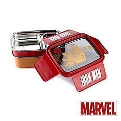 Marvel漫威 鋼鐵人雙層304不鏽鋼分隔便當盒