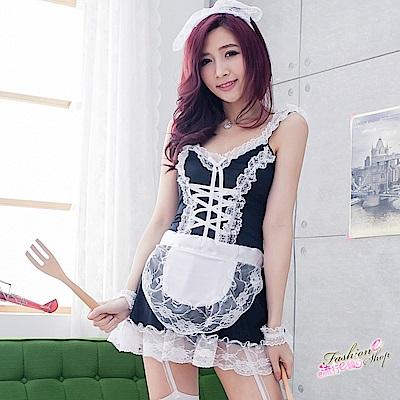 超大尺碼女僕裝 角色扮演蕾絲性感女傭制服COSPLAY服裝表演服 流行E線