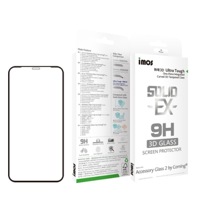 iMOS Apple iPhone 11 Pro 專用版 熱彎3D 玻璃螢幕保護貼