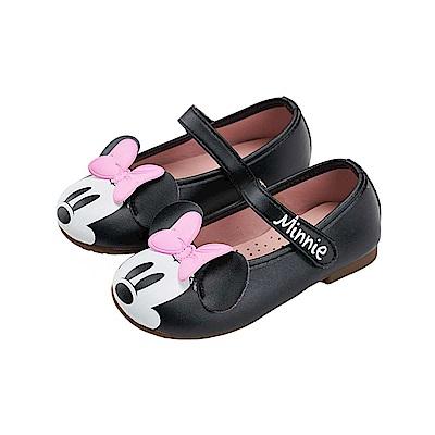 迪士尼童鞋 米妮 魔鬼氈公主娃娃鞋-黑