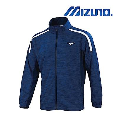 MIZUNO 男針織運動外套 麻花藍X深丈青 32TC903282