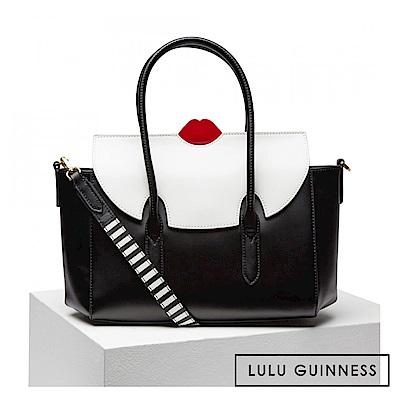 LULU GUINNESS FLO 手提/側背包 (黑白)