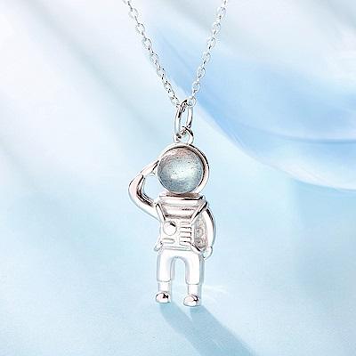 梨花HaNA 韓國月光石精緻太空人鎖骨鍊