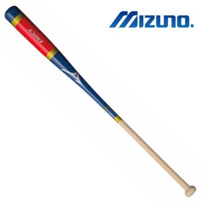MIZUNO 日本製KNOCK教練棒 紅藍x原木 1CJWK14091