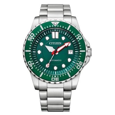 CITIZEN 星辰 Mechanical經典綠面機械腕錶-43MM(NJ0129-87X)