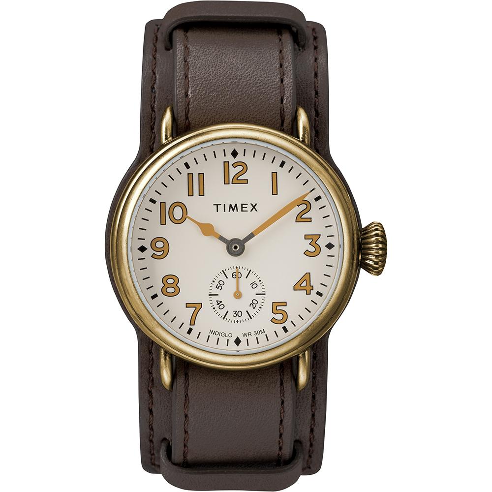 TIMEX 復刻系列 經典復古手錶-深咖啡/38mm