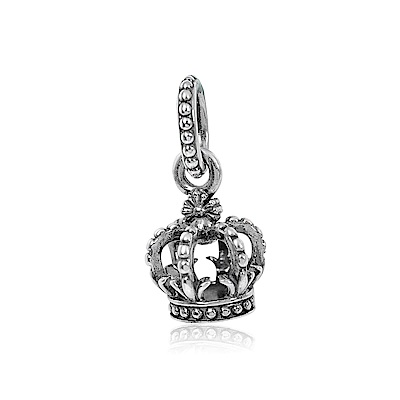 Pandora 潘朵拉 魅力皇冠 垂墜純銀墜飾 串珠
