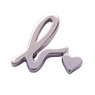 agnes b. 簡約針式耳環(銀/1支)