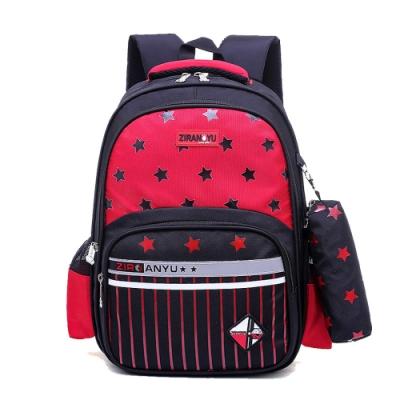 DF 童趣館 - 兒童反光條防潑水後背減壓附筆袋書包-共3色