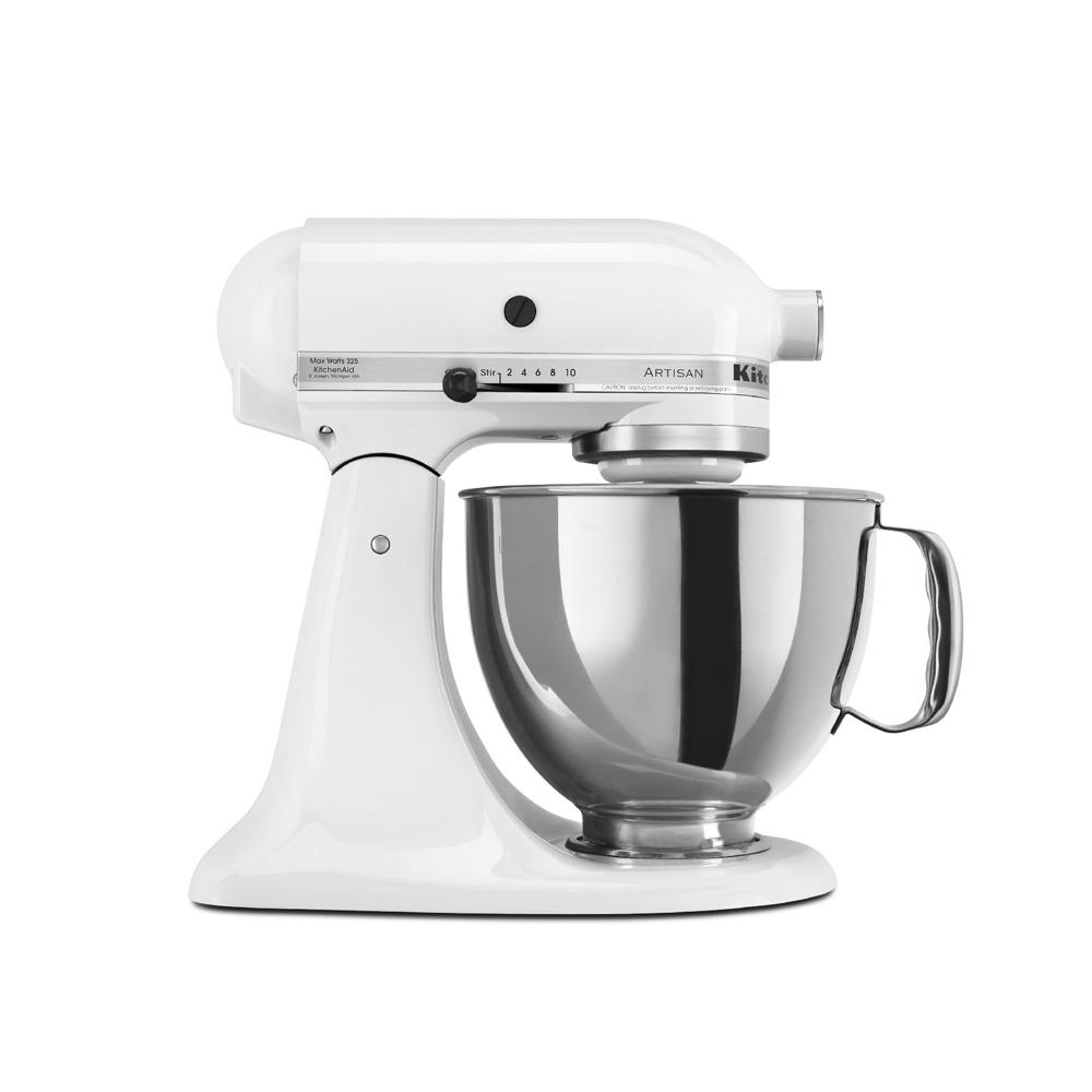 KitchenAid抬頭式桌上型攪拌機牛奶白3KSM150PSTWH