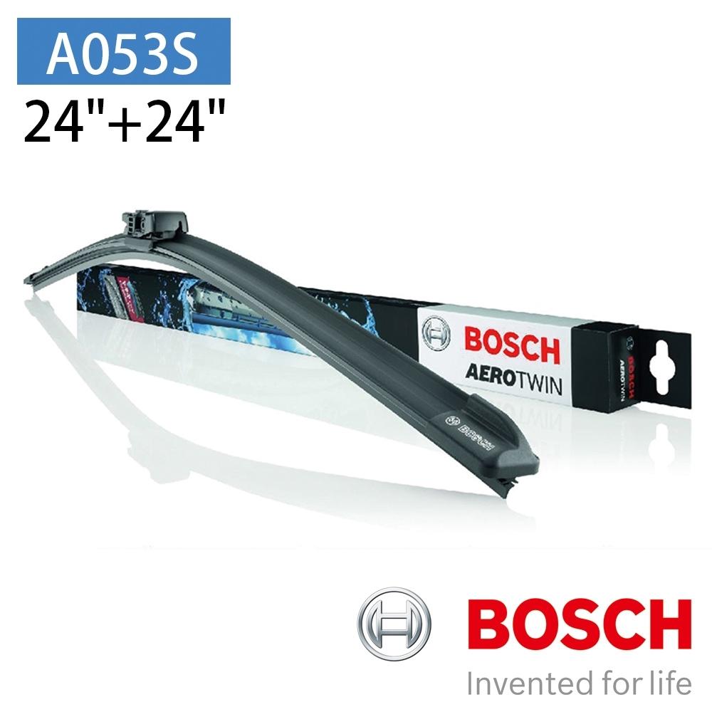"""【BOSCH 博世】AERO TWIN A053S 24""""/24"""" 汽車專用軟骨雨刷"""
