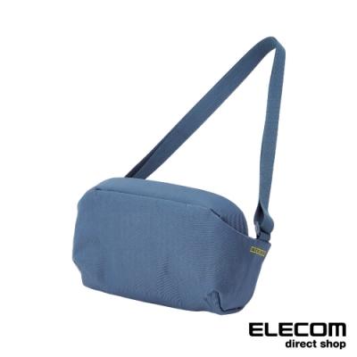 ELECOM ESCODE 防盜側背包-藍