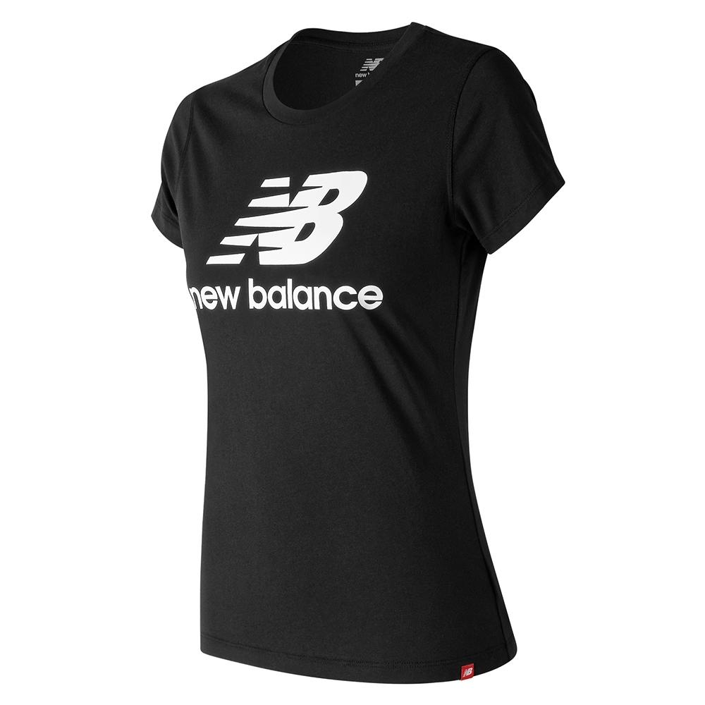 New Balance LOGO短袖上衣 AWT91546BK 女性 黑色