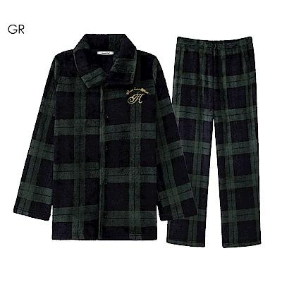 aimerfeel 搖粒絨成套睡衣-綠色-822366-GR