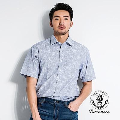 BARONECE 優雅玫瑰印花襯衫(518412-08)