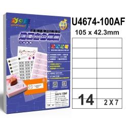 彩之舞 進口白色標籤 14格直角 U4674-100AF*2包