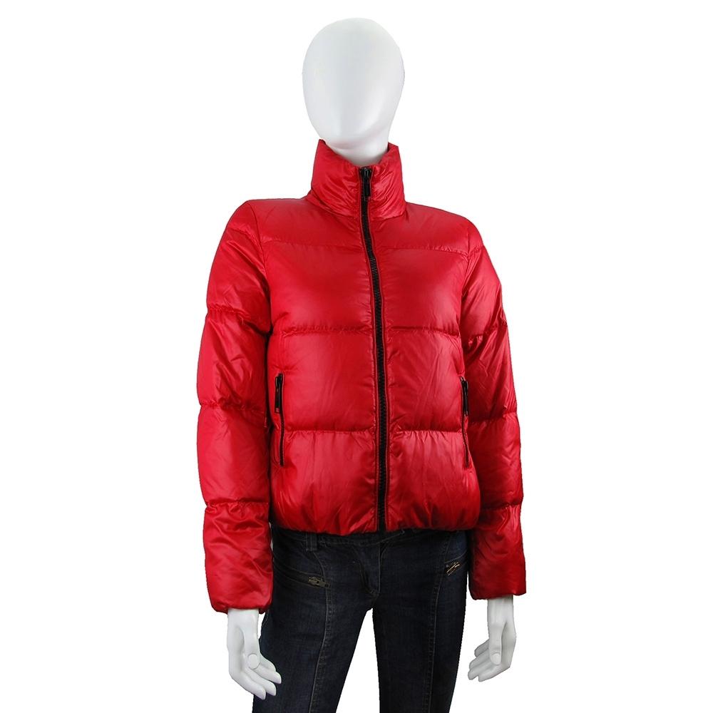 MICHAEL KORS 黑色圓標Logo輕量夾克型羽絨外套(辣椒紅)