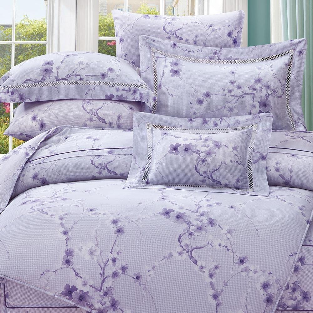 岱思夢   加大 60支天絲兩用被床包組  薇洛妮-紫