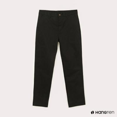 Hang Ten-男裝-STRAIGHT FIT直筒鬆緊九分褲-黑色