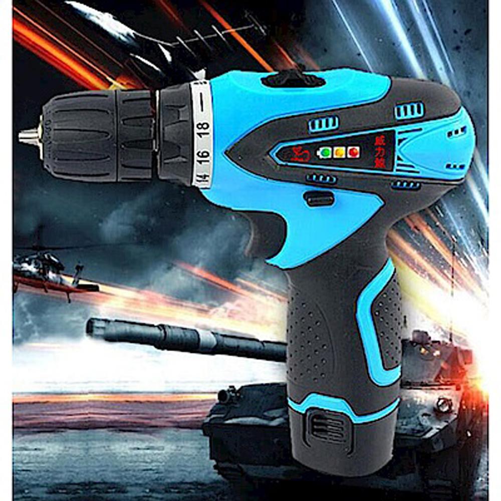 威力鯨車神 12V雙速充電式鋰電池電鑽組_37件豪華大全配(加贈打蠟拋光工具組)