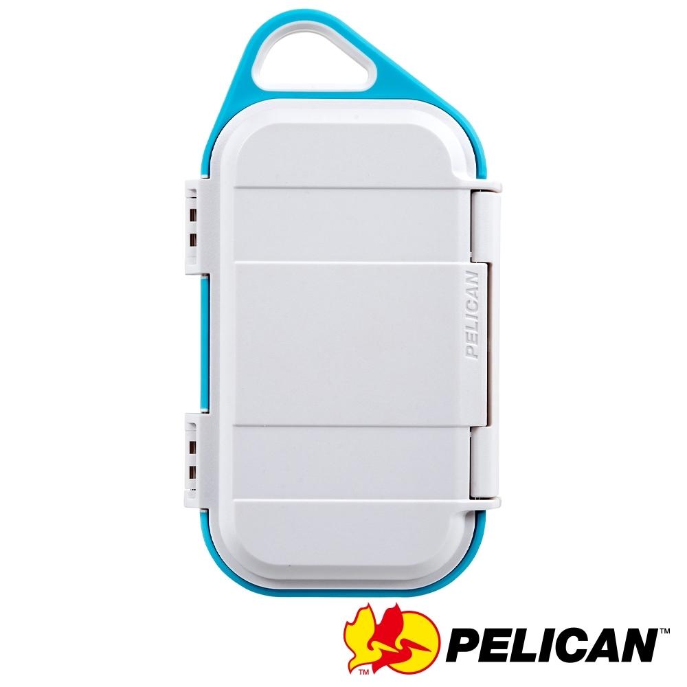 美國 PELICAN G40 GOCASE 微型防水氣密箱-(白藍)