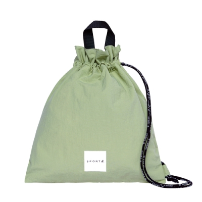 Agnes b. - Sport b. 斜背束口包(中性)(綠)