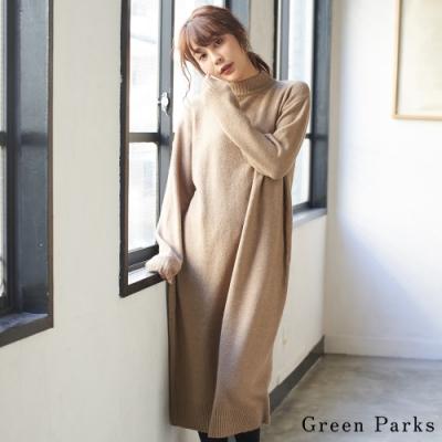 Green Parks 簡約高領連身針織洋裝
