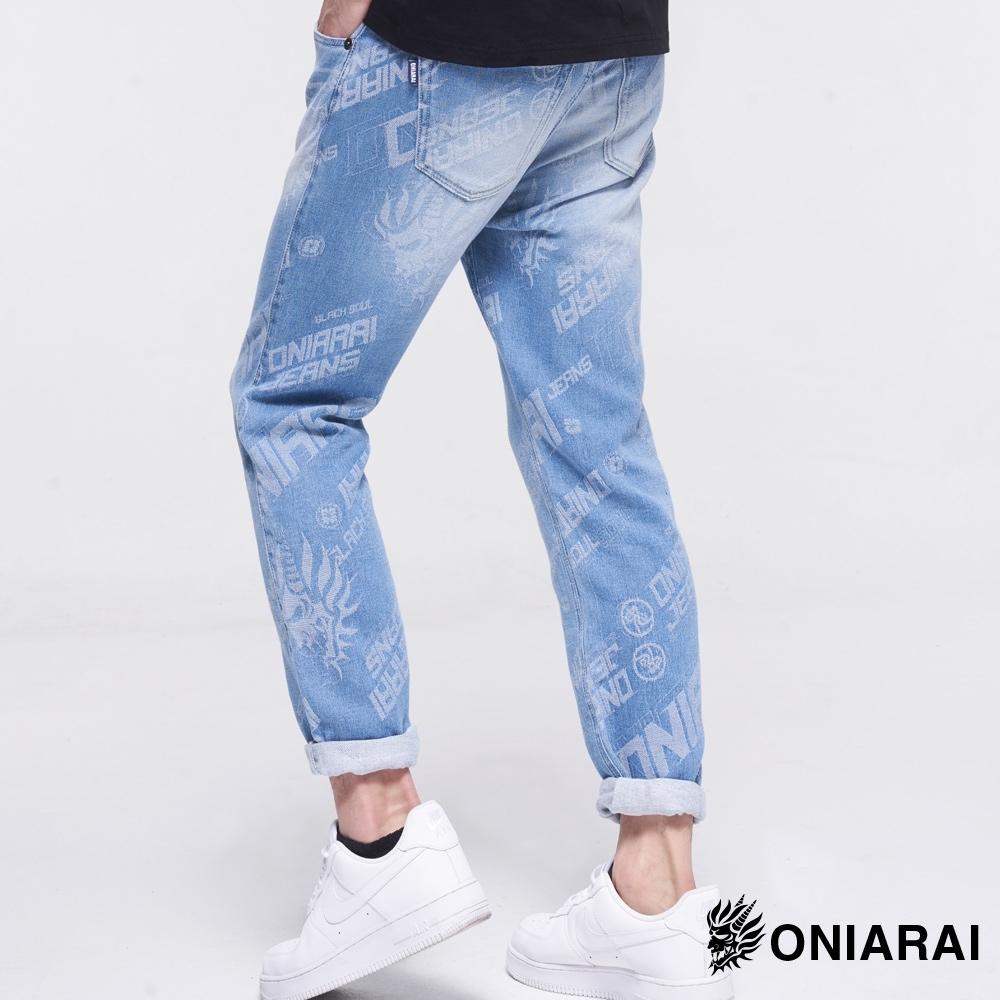 鬼洗 BLUE WAY – 大緹織3D鬼頭丹寧錐形褲