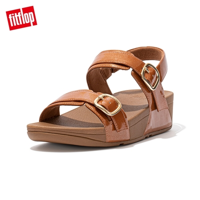 【FitFlop】LULU GLITTER ADJUSTABLE BACK-STRAP SANDALS 可調整式後帶涼鞋-女(土褐色)