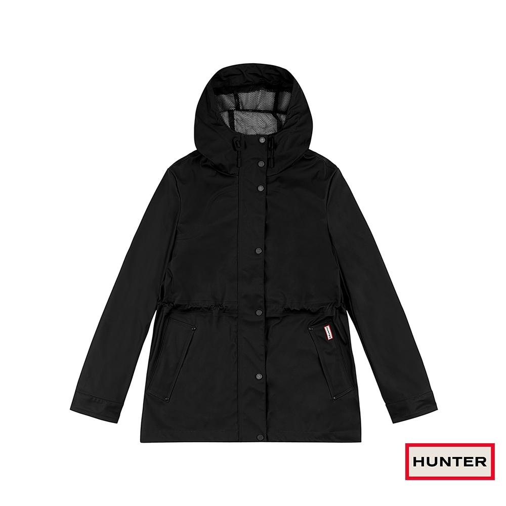 HUNTER - 女裝-輕量橡膠外套 - 黑