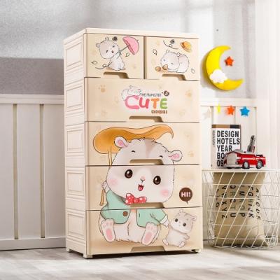 【Mr.box】56大面寬-五層抽屜式附鎖附輪收納櫃(三款可選)