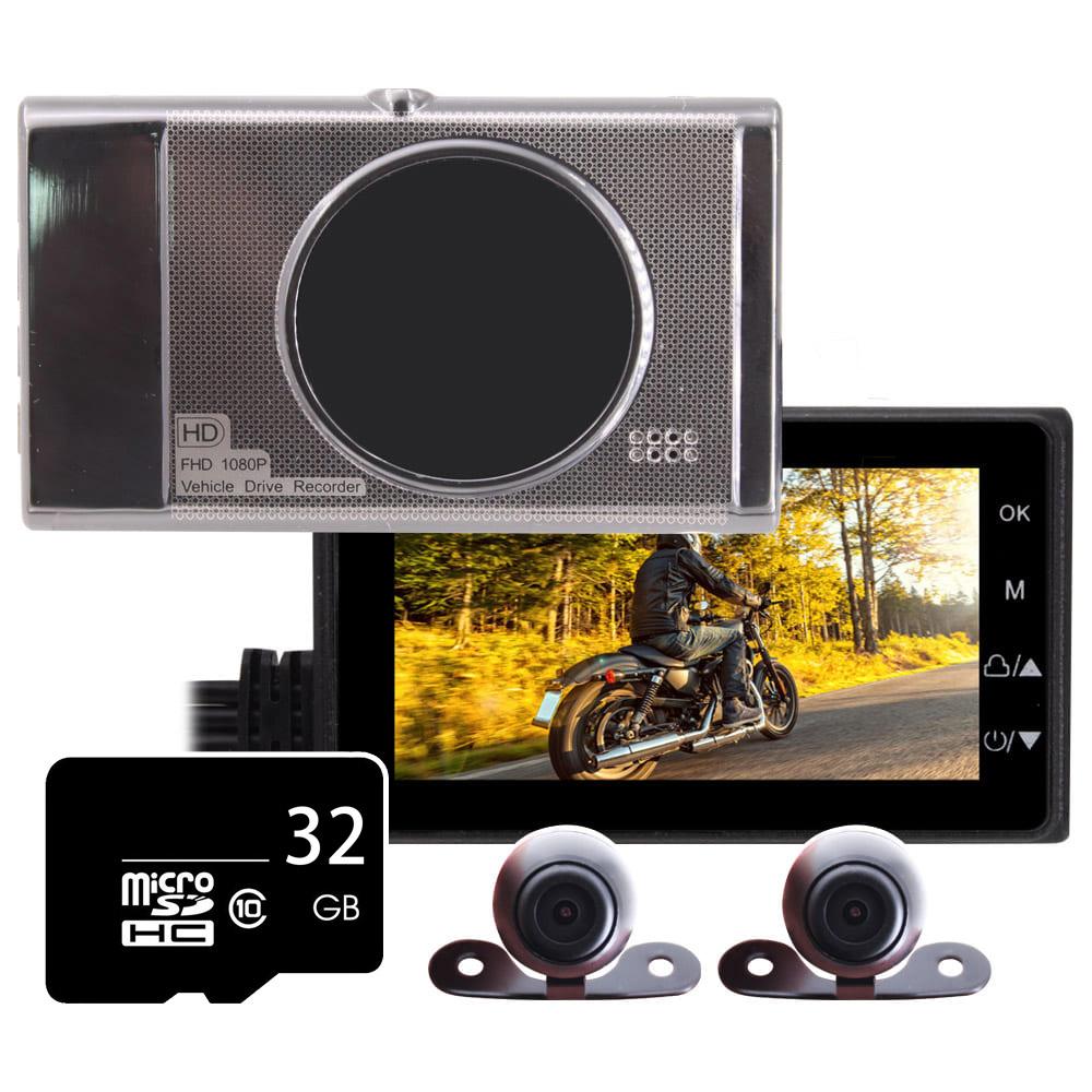 IS愛思 MR-18 前後雙鏡雙錄高畫質機車行車記錄器(贈32GB記憶卡)