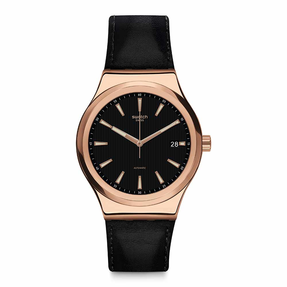 Swatch 51號星球機械錶 SISTEM ROSEE 玫瑰金迷手錶